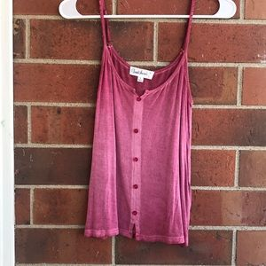 ROSE BUTTON TANK